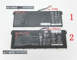 Aspire r5-571t-57z0 batteri, 14.4V,or15.2V 3490mAh acer aspire r5-571t-57z0 laptop batterier