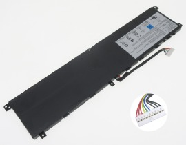 Gs65 stealth 9se hög kapacitet batteri, 15.2V 5380mAh msi gs65 stealth 9se laptop batterier